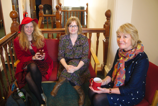 Sally Bayley and Lucy Mangan with Sue Cook
