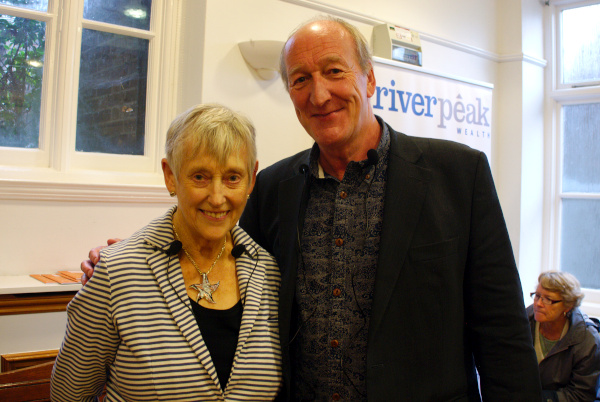 Stella Rimington with Peter Guttridge
