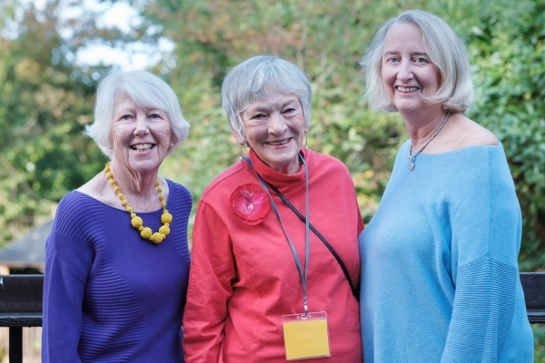 Sheila Chasser, Sheila Mortimer and Sue Laing