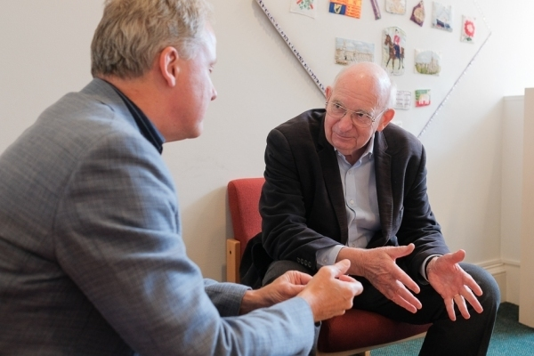Tim Waterstone with Julian Worricker
