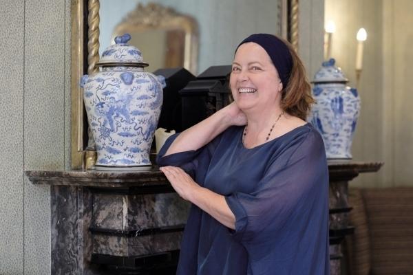 Greta Scacchi reading poetry at Ockenden Manor
