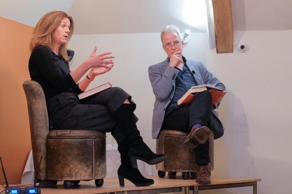 Clare Clark with Julian Worricker